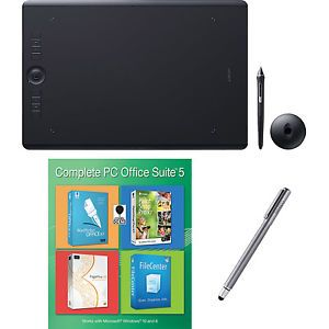a wacom intuos pro large bundle w extra stylus and corel office 5