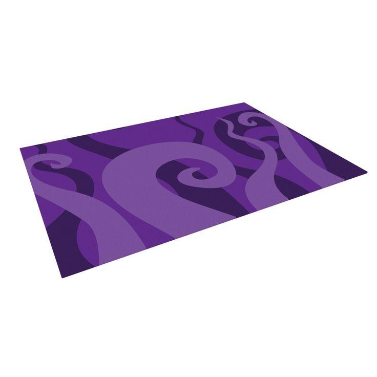 """KESS Original """"Poor Unfortunate Souls - Purple"""" Indoor / Outdoor Floor Mat from KESS InHouse"""