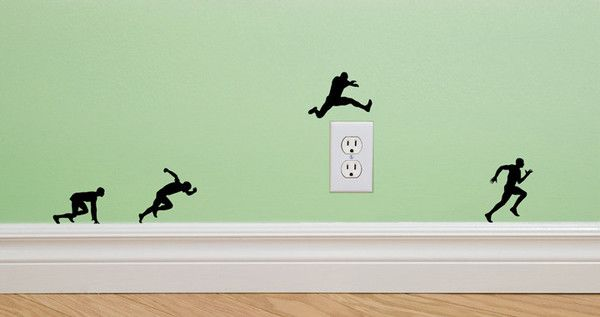 running molding mates, removable wall decals. This site actually has tons of ideas for decorating the walls of your home, bedroom, playroom, game room, etc. Creative decorating ideas for children!