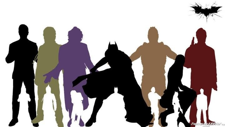 The Dark Knight Trilogy Silhouette