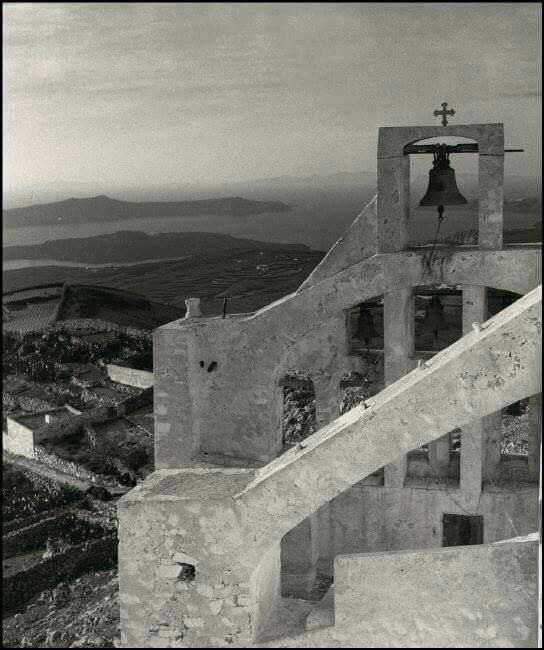 1937 ~ Profitis Elias monastery in Santorini (photo by Herbert List) selected by www.oiamansion.com