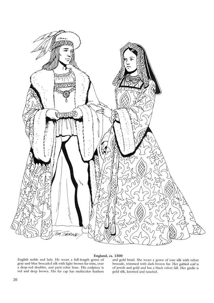 Renaissance Fashions 21 Costumes For Couples Pinterest Renaissance Coloring Pages