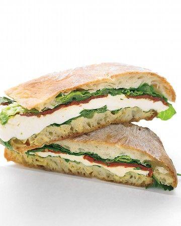 Pressed Mozzarella and Tomato Sandwich