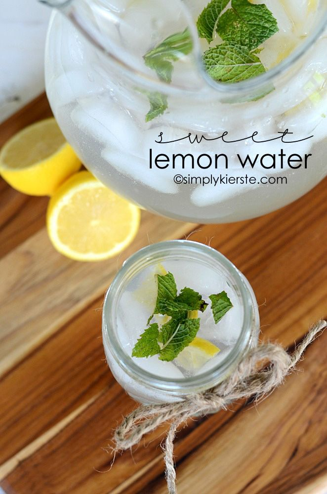 Sounds great for hot summer afternoon picnic. Sweet Lemon Water | simplykierste.com ... everyone wants this recipe!