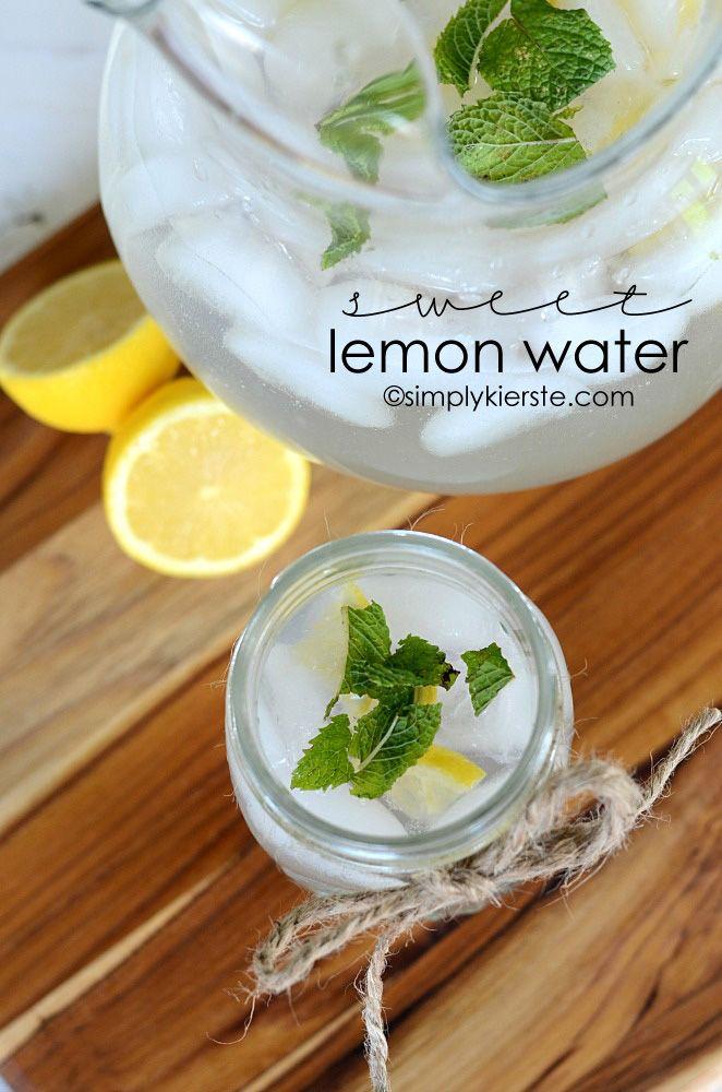 Sweet Lemon Water | simplykierste.com    This is always a favorite at parties... everyone wants the recipe!