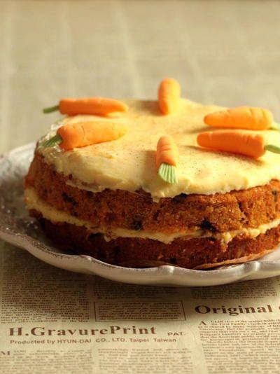 * アメリカやイギリスで人気のキャロットケーキ♪