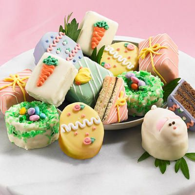 75 best easter baskets gifts and crafts images on pinterest gourmet easter petits fours from figis perfect for easter gift giving and easter brunch negle Choice Image