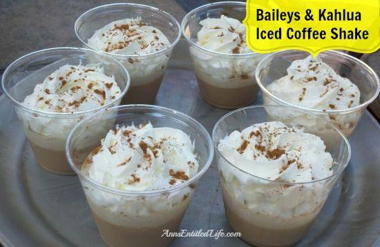 Baileys & Kahlua Iced Coffee Shake; smooth, delicious and decadent!