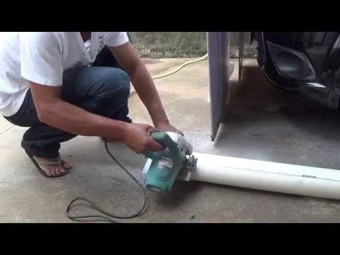 CALHA PARA TELHAS FEITA DE CANO DE PVC PARTE 02 LARGURA 8 m DE COMPRIMENTO - YouTube