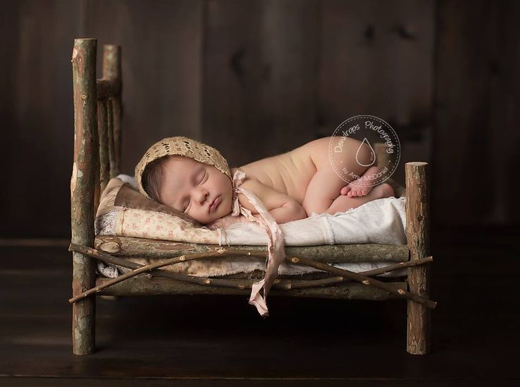 Pinterest newborn bed and twig prop