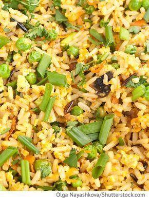 Reis mit Ei auf chinesischer Art Gebratener Reis mit Eiern - Chinesische Rezepte