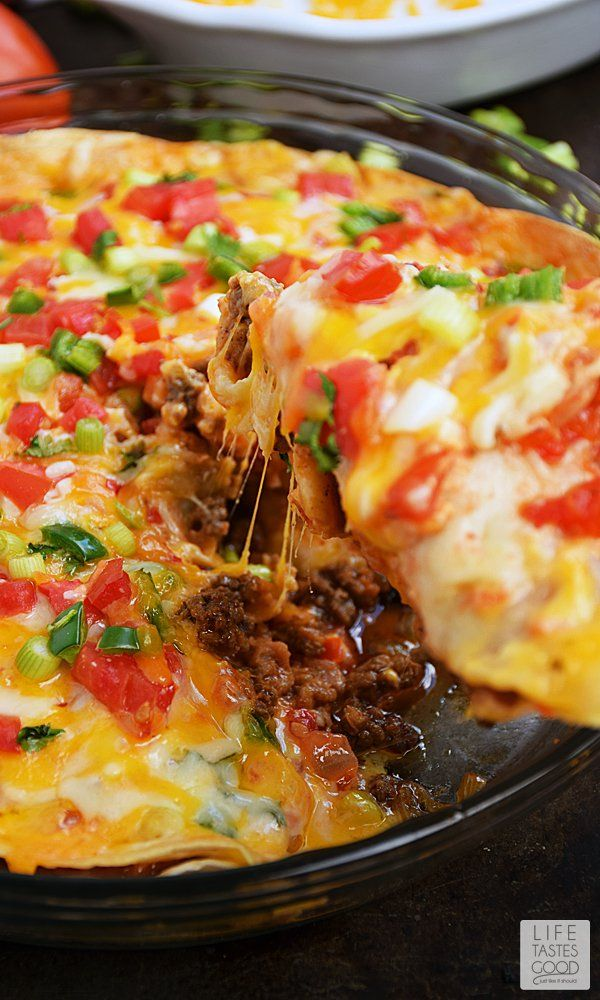 This Easy Taco Pie is an easy budget-friendly recipe  perfect for busy families! It uses ingredients that you probably already have on hand in your kitchen!