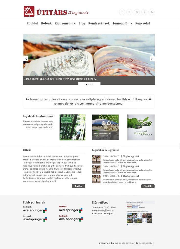 könyvkiadó weboldal terv