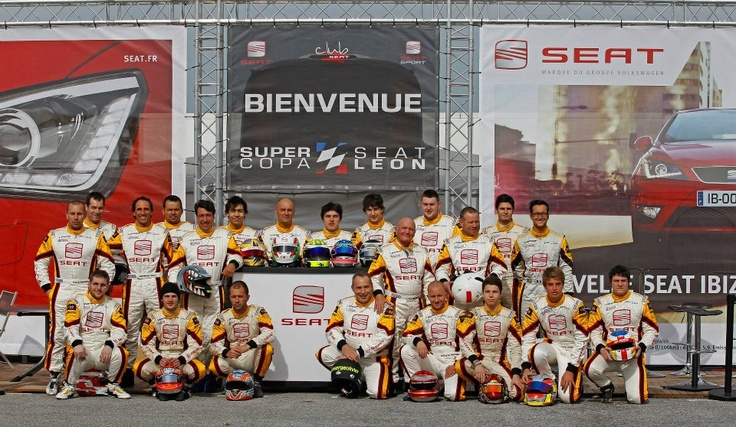 Supercopa SEAT León France drivers. First meeting in Ledenon circuit.