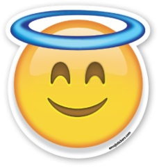 Smiling Face with Halo | Emoji Stickers