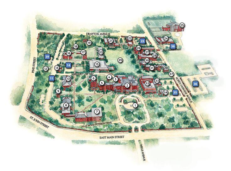 Campus Map - Converse College