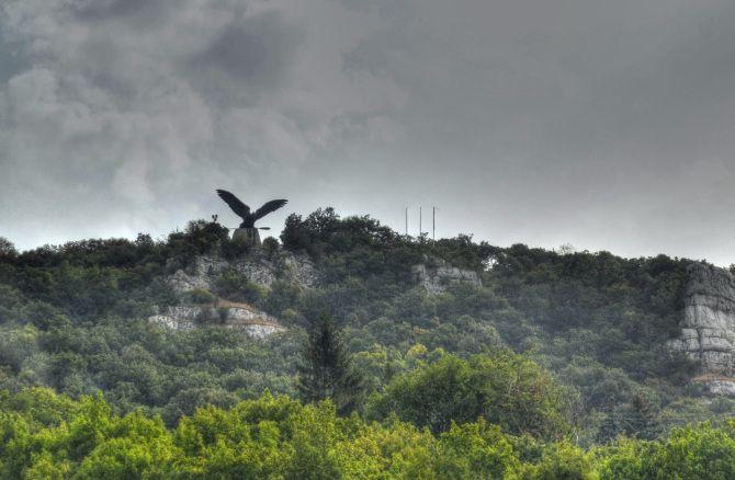 The Eagle statue near Tatabánya