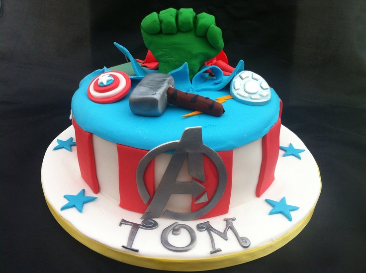 Avengers Birthday Cake Design : 176 best images about Avenger Birthday Party Ideas on ...