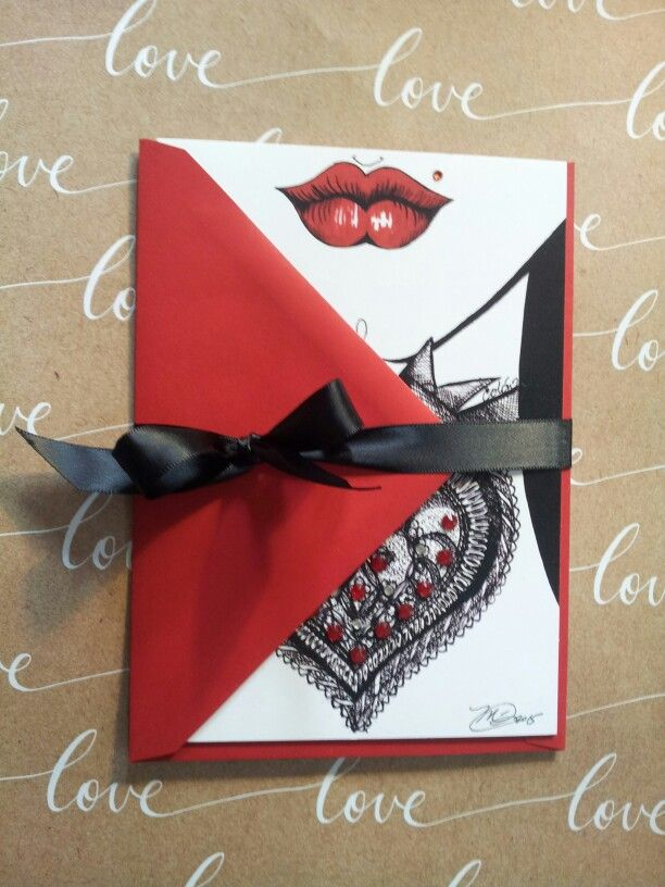 #packaged #Valentine card ...just finished adding crystals n ready to be shipped to #luxe lingerie boutique
