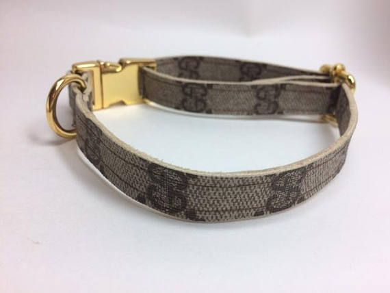 Gucci Dog Collar Repurposed Recycled Upcycled Reworked