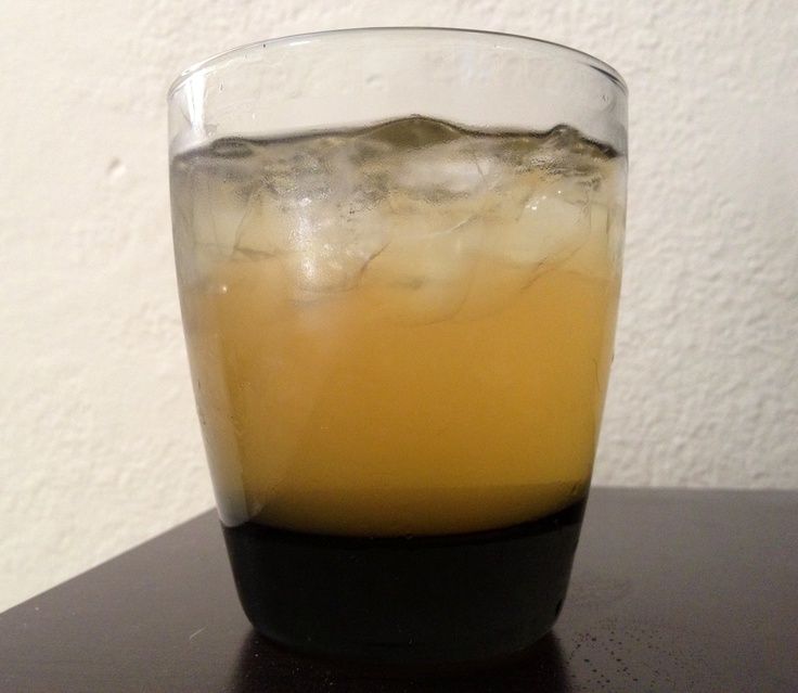 Long Island Sour: It's a mix between a Long Island Iced Tea & Whiskey Sour. Half shot Honey Jack Daniels, Half shot Rum (spiced or regular) Tbsp Lemon Juice or a splash of Sweet & Sour Mix, fill the rest up with Arizona Diet Iced Green Tea. The best part is It's only 100 Calories! It's refreshing and yummy!