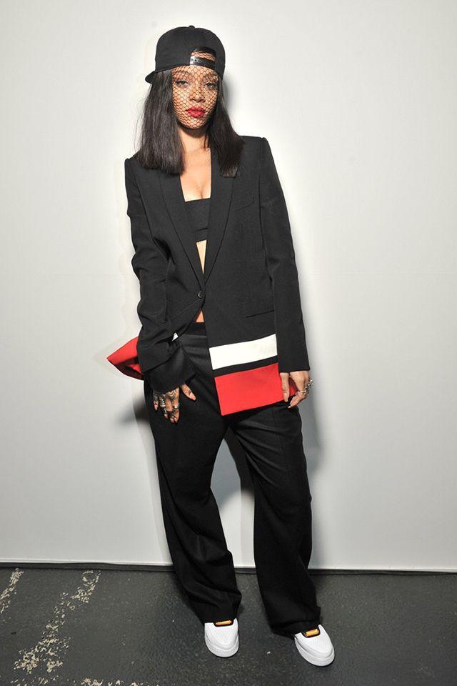 Rihanna in Givenchy Paris Fashion Week autumn winter 2014-15 #PFW #Streetstyle