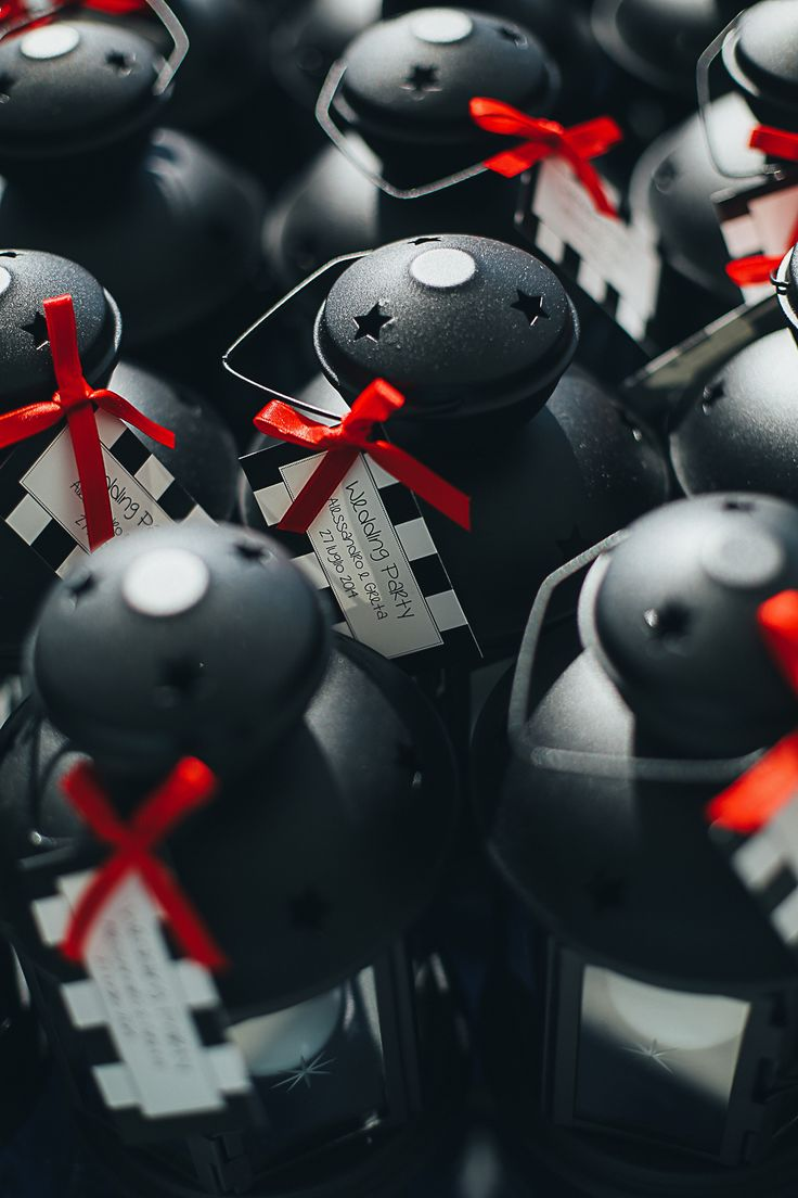 Black White Red Wedding Favor Lantern Ikea