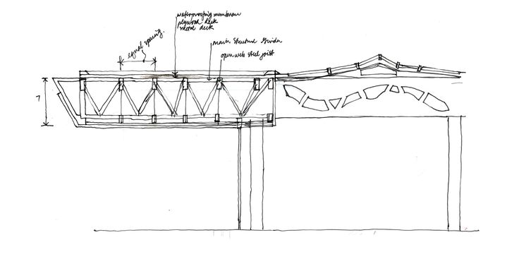 A Sketch Space Frame Cantilever Spaces Places
