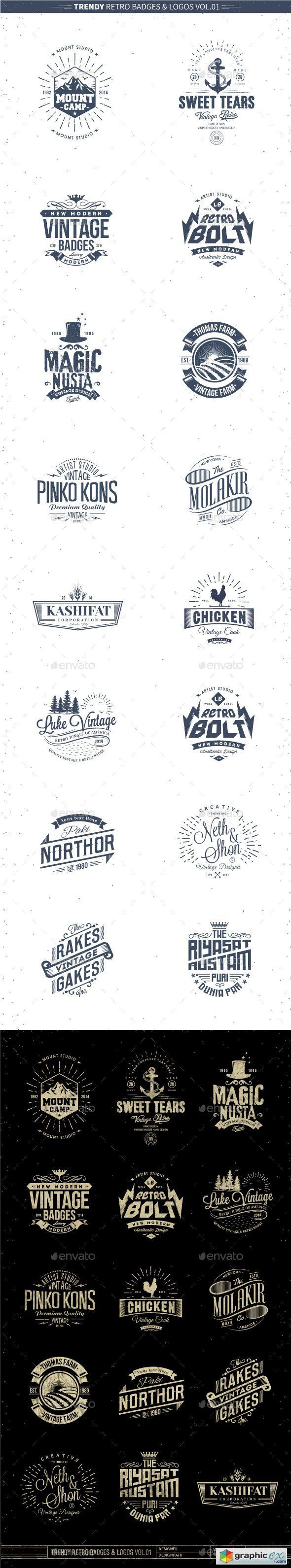 Trendy Retro Badges and Logos Vol.01