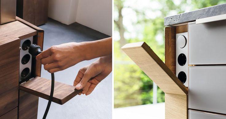 Cozinha Design Ideas - Hide Your tomadas elétricas