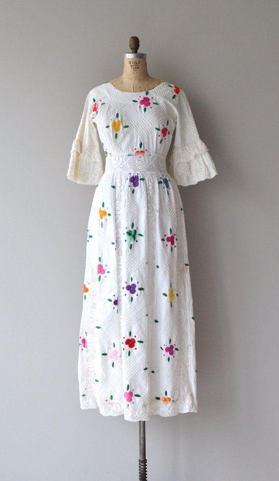 Perfect Querida Querida dress vintage s mexican wedding by DearGolden