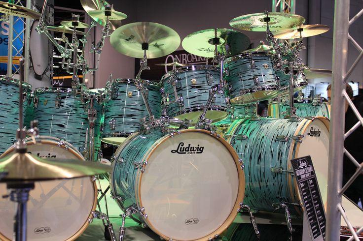 Insane Ludwig Drum Set Namm 2014 #drummers #drums #music