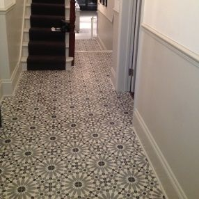 moroccan encaustic tiles in hallway tiles pinterest. Black Bedroom Furniture Sets. Home Design Ideas