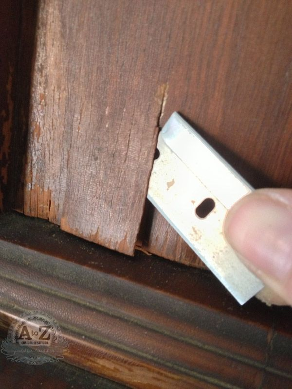 Repairing Damaged Veneer She tells you how to repair or fix furniture! This helps the people who are learning ... I didn't write this but many people who redo furniture don't give you all the insight and their knowledge!