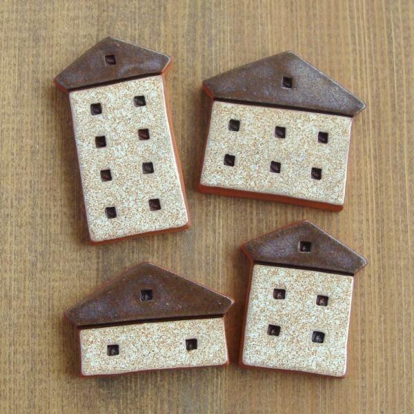 domki,ozdoby ceramiczne,magnesy,rustykalne - Magnesy na lodówkę - Wyposażenie wnętrz w ArsNeo