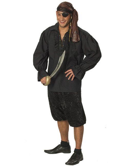 Piratenhemd für Herren schwarz, aus unserer Kategorie Piratenkostüme. Ein edles Piratenhemd für fröhliche Freibeuter! Mit diesem Accessoire für das Piratenkostüm macht das Plündern wieder Spaß. Genial für Karneval und Piraten Mottopartys. #Faschingskostüm #Kostümzubehör
