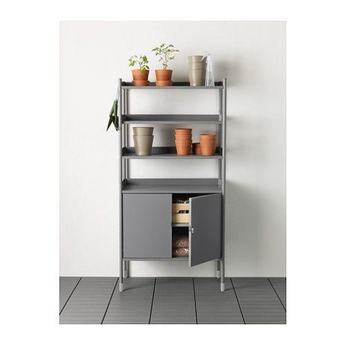 Ikea Kitchen Shelf Unit: HINDÖ Shelf Unit W/cabinet, In/outdoor, Gray