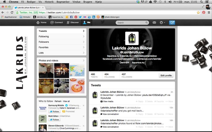Twitter is calling all licorice lovers - Lakrids by Johan Bülow is ready to join the conversation with you at https://twitter.com/LakridsbyBulow