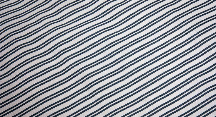 Metráž bavlna - Modrý dvojitý proužek