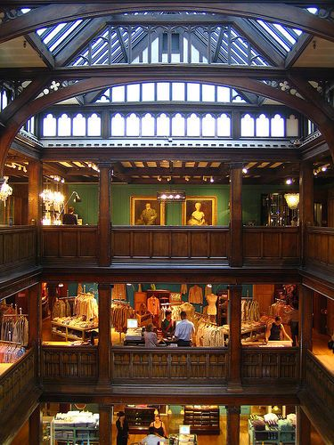 Liberty of London, interior.Liberty is a department store on Regent Street, based in the West End shopping district of Central London.