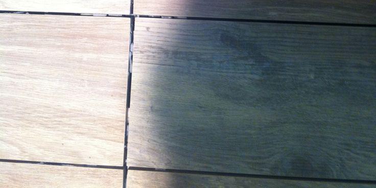 Kakelmässa Bologna på bilden underhållsfri Klinker som ser ut som träplankor hittar du hos ProntoKakel®