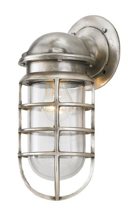 anchor nautical solid brass sconce, 22-old pewter : out of my budget, but this would look amazing in my bathrooms or on my art wall  #barnlightelectric