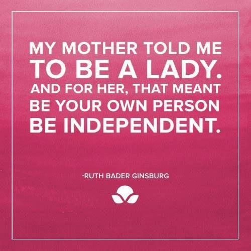 Ruth Bader Ginsburg.                                                                                                                                                                                 More