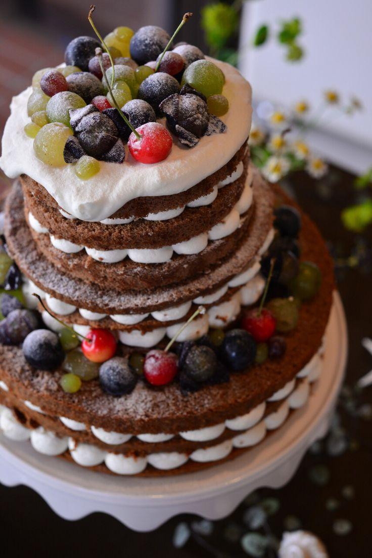 ウエディングパーティー用 ネイキッドケーキ