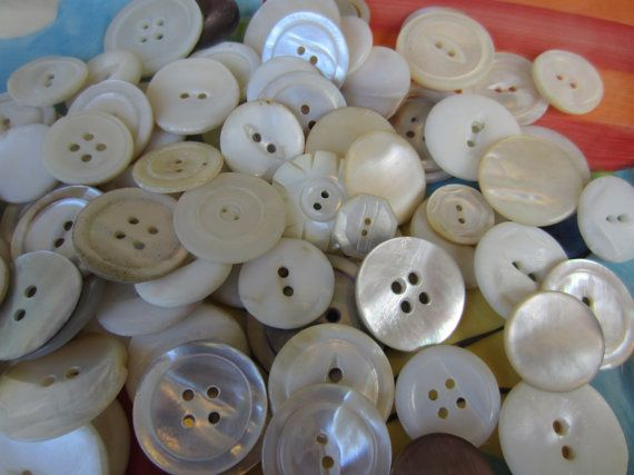 Vintage Buttons   Large lot Bargain buttons  by pillowtalkswf, $17.98