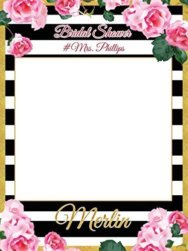 amazoncom custom floral bridal shower photo booth frame sizes 36x24 48x36 personalized bridal shower decorations handmade party supply photo booth