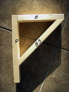 DIY Easy Shelves and Brackets