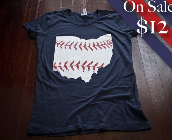 Cleveland baseball Ladies tshirt Buy Any 3 Shirts Get by watatees, $12.00.  I sooo just bought one of these. :)