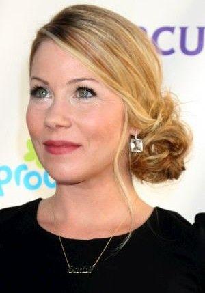 Christina Applegate Bun Hairstyle