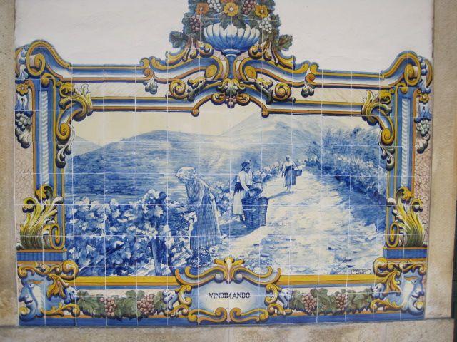 Azulejo at Pinhao station